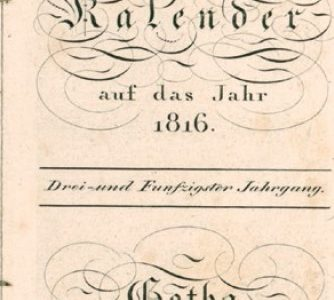 Neuer Flyer zum Gothaischen Hofkalender