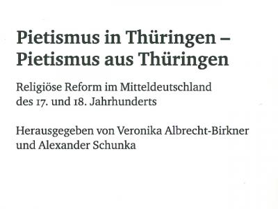 Neuerscheinung zum Pietismus in Thüringen