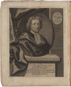Abbildung: Porträt von Veit Ludwig von Seckendorff. Signatur: FB Gotha, Theol 4° 339/1.