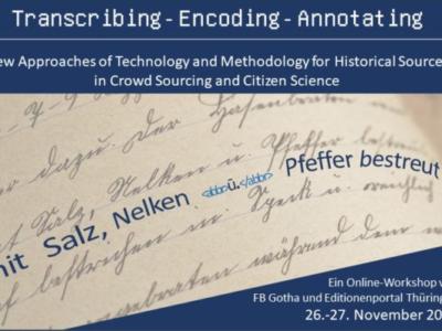 Online-Workshop: Transkribieren − Kodieren − Annotieren