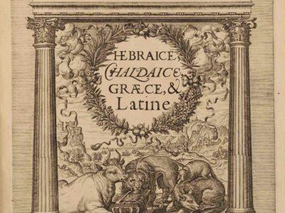 Bibeln für Gelehrte. Die Sammlung an Polyglotten in der Forschungsbibliothek Gotha