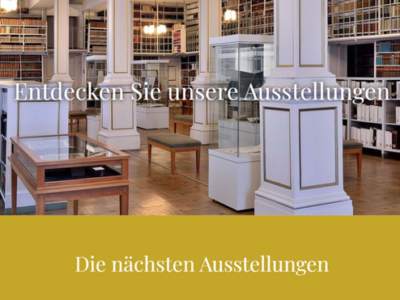Einblicke in das neue digitale Ausstellungsportal der Forschungsbibliothek Gotha