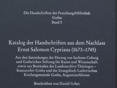 Cyprian-Katalog erschienen